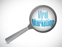 viral marketing magnify glass sign concept Royalty Free Stock Photo