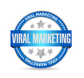 Viral marketing seal sign concept illustration Stock Image