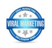 viral marketing seal sign concept illustration Stock Image