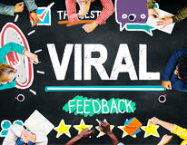 Viral Marketing Spread Review Event Feedback Concept Stock Photos
