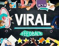 Viral Marketing Spread Review Event Feedback Concept.  Stock Photos
