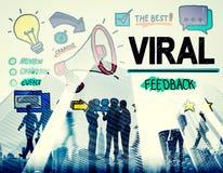 Viral Marketing Spread Review Event Feedback Concept Stock Photos