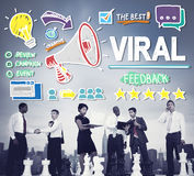 Viral Marketing Spread Review Event Feedback Concept.  Stock Photo