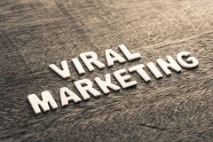 Viral Marketing Topic. By wood letters Stock Photography