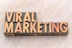 Viral marketing word abstract in wood type. Viral marketing word abstract in vintage letterpresss wood type printing blocks Royalty Free Stock Photo
