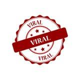 Viral stamp illustration Royalty Free Stock Photos