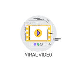 Viral Video Digital Marketing Icon Stock Image