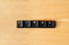 Viral word. With keyboard buttons Royalty Free Stock Image