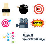 Virale marketing pictogrammen Royalty-vrije Stock Afbeelding