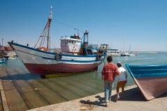 Vire hacia el lado de babor en Essaouira Fotografía de archivo libre de regalías