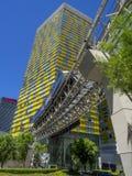 Vire las torres en CityCenter en Las Vegas Imagenes de archivo