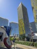 Vire las torres en CityCenter en Las Vegas Fotos de archivo