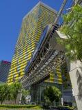 Vire las torres en CityCenter en Las Vegas Foto de archivo libre de regalías