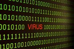 Viren mit digitaler Tablette Daten stehlend Lizenzfreies Stockfoto