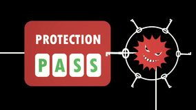 Virenbefall zum Systemschutz stock footage