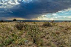 Virga in the desert Stock Photography
