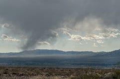 Virga along the Black Mountains in Arizona stock image