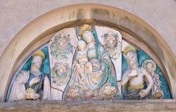 Virgem Maria com bebê Jesus e Saint Foto de Stock
