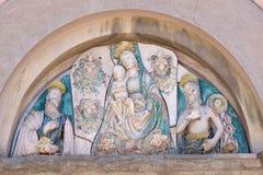 Virgem Maria com bebê Jesus e Saint Fotografia de Stock Royalty Free
