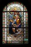 Virgem Maria com bebê Jesus e St Dominic fotografia de stock royalty free