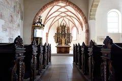Virgem Maria da igreja, Pribylina, Eslováquia Imagem de Stock