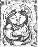 Virgem Maria da mãe ilustração stock