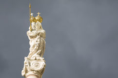 Virgem Maria e bebê Jesus Horizontal Foto de Stock Royalty Free