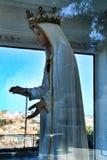 Virgem Maria em um ponto de vista de Lisboa imagens de stock