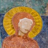 Virgem Maria, fresco medieval de nossa senhora Imagens de Stock Royalty Free