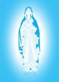 A Virgem Maria no azul Fotos de Stock Royalty Free
