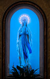 Virgen azul Mary Shrine de Madonna Imagenes de archivo