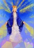 Virgen bendecida Mary Queen Foto de archivo libre de regalías