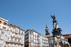 Virgen Blanca square, Vitoria Royalty Free Stock Photography