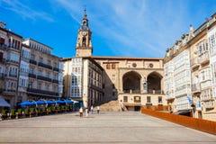 Virgen Blanca Square in Vitoria-Gasteiz stockfoto