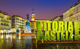 Virgen Blanca Square. Vitoria-Gasteiz Royalty Free Stock Photos