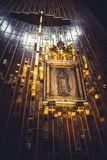 Virgen de Guadalupe. The famous painting of the Virgin of Guadalupe inside the Basilica in Mexico City Royalty Free Stock Images