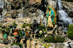 Virgen de Guadalupe. Statue of Virgin Mary Appearing to Juan Diego Guadalupe Shrine Stock Images