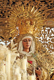 Virgen de la esperanza en el distrito de Triana, semana santa en Sevilla, Andalucía, España Imagenes de archivo
