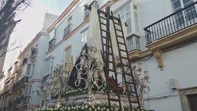 Virgen de la Soledad, dettagli dell'immagine video d archivio