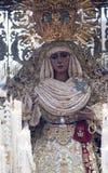 Virgen De Los angeles Esperanza De Triana, Święty tydzień w Seville zdjęcie royalty free