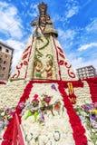 Virgen de los Desemparados dans le festival de Fallas sur la place du saint Photographie stock libre de droits