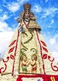 Virgen de los Desemparados en el festival de Fallas en el cuadrado del santo Foto de archivo