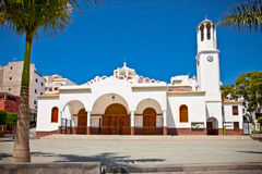 Virgen del Carmen Church at Los Cristianos, Tenerife Stock Photography