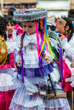 Virgen del Carmen parade peruvian Andes  Pisac Peru Stock Photo