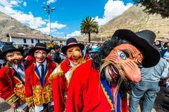 Virgen del Carmen parade peruvian Andes  Pisac Peru. Pisac, Peru - July 16, 2013: Virgen del Carmen parade in the peruvian Andes at Pisac Peru on july 16th, 2013 Royalty Free Stock Images