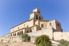 Virgen del Rivero kyrka i San Esteban de Gormaz, Soria, Spanien Fotografering för Bildbyråer