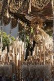 Virgen del Rocio Holy Week i Seville Arkivfoton