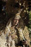 Virgen del Rocio Holy Week in Sevill Royalty Free Stock Images