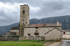 Virgen del Rosario Church in the rural town of Triste , Spain Stock Images