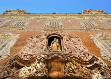 Virgen del Rosario ogradzający w niszie Palacio Del Marques de Dos Aguas, Walencja Obrazy Royalty Free